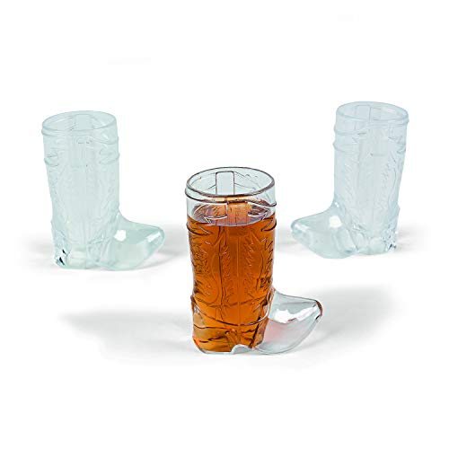 Mini Cowboy Boot Shot Glasses (set of 12) Western Party Supplies, Bachelorette & Bachelor Party Supplies