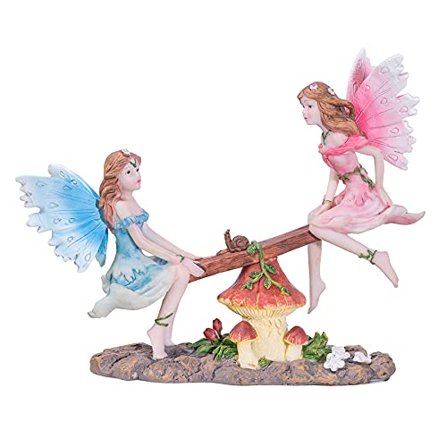 Pelle & Sol Feen auf SeeSaw Ornament – Outdoor Garten Fee Dekoration Zuhause Geschenk Zubehör
