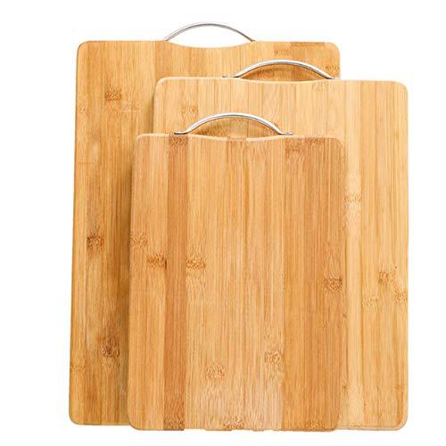 CHUN LING Planche à découper en Bambou, avec poignée pour Fromage, Viande - Très Grande Planche à découper à charcuterie, Durable, résistante à l'eau, Marron