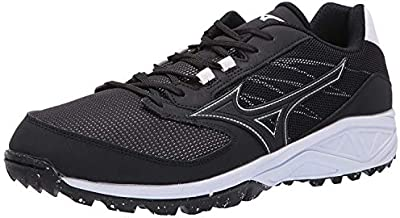 Mizuno Mens Dominant All Surface Low Turf, Black/White, 10.5