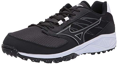 Mizuno Mens Dominant All Surface Low Turf, Black/White, 10