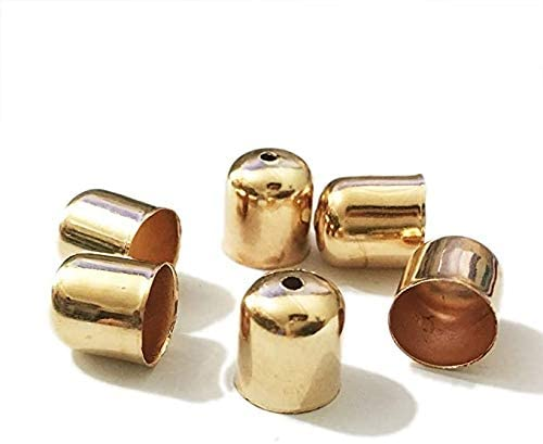 HANDYCRF 50pcs Caps Charms Crimps B OFFicial store End Beads Rare Cords Leather
