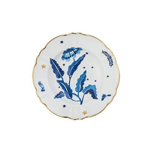 BITOSSI Home & Funky Table LA TAVOLA SCOMPOSTA, Piatto Fondo Fiore Blu