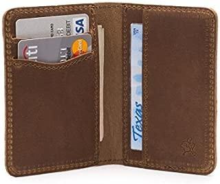 Thin Full Grain Leather Slim Bifold Wallet for Men RFID Shielded Includes 100 Year Warranty