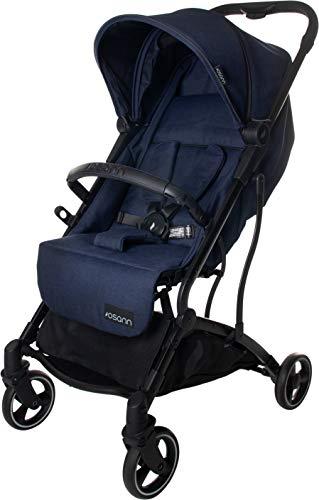 Osann Boogy Sportwagen-Buggy mit Liegefunktion ab Geburt bis 22 kg - inklusive Regenverdeck, Transporttasche und Babyschalen-Adapter Navy Melange