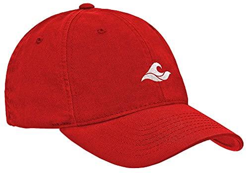 Koloa Unisex Soft & Cozy Low Profile Cotton Dad Hat-Red/w