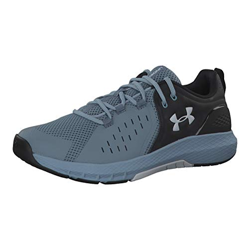 Under Armour Men's Charged Commit 2.0 Running Shoe, Black (002)/Ash Gray, 7