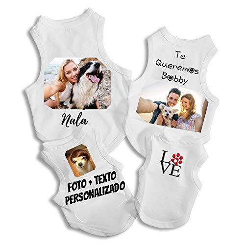 RecontraMago hondenkleding personaliseerbaar - hondenmantel met uw foto en uw favoriete tekst - kostuum vele maten - origineel cadeau voor uw kleine en middelgrote hond - accessoires, LARGE 32 x 22.5CM