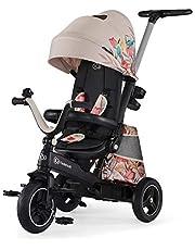 Kinderkraft driewieler EASYTWIST, Baby Push Trike, Kids First Bike, kinderwagen, 360 ° draaistoel, met zonneluifel, ouderhandvat, voetsteun, accessoires, tas, bekerhouder, van 9 maanden tot 5 jaar