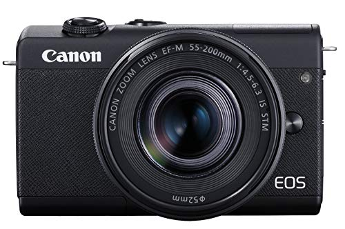Canon EOS M200 Compact Mirrorless Digital Vlogging Camera with EF-M 15-45mm Lens, Vertical 4K Video Support, 3.0-inch Touch Panel LCD, Built-in Wi-Fi, and Bluetooth Technology, Black