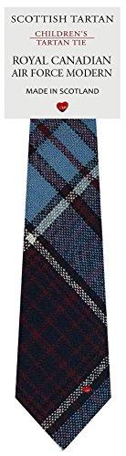 I Luv Ltd Garçon Tout Cravate en Laine Tissé et Fabriqué en Ecosse à Royal Canadian Air Force Modern Tartan
