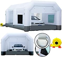 GORILLASPRO Inflatable Paint Booth 16.5x10x8Ft?Inflatable Spray Booth with Blower?Upgrade Air Filter System Environment Friendly?More Durable Portable Spray Painting Tent
