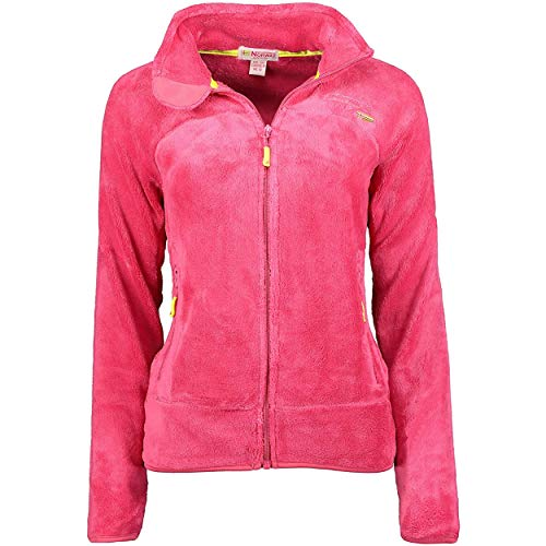 Geographical Norway UPALINE Lady - Suave Cálido Mujeres - Chaqueta Calida Invierno Suave Mujeres Caliente - Pullover Casual Tops Mangas Largas - Manga Larga Suéter Piel Rosa Polvo M