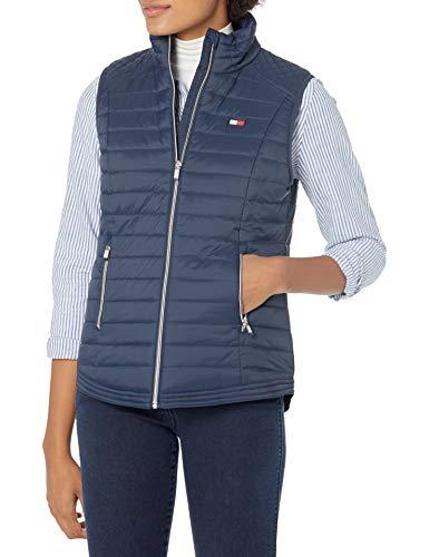 Tommy Hilfiger Women's Cinch Waist Vest, Navy, Medium
