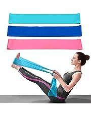 Dwuji Fitnessbandenset, 3 stuks, elastische stretchbanden, 1,5 m extra lang, krachttraining, Essentials antislip, trainingsband voor spieropbouw, gymnastiek, yoga, pilates