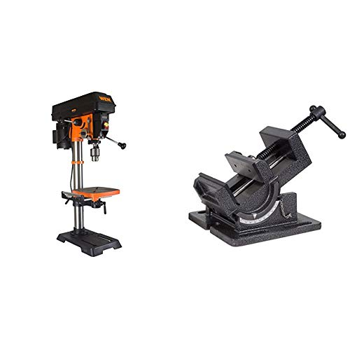 Amazing Deal WEN 4214 12-Inch Variable Speed Drill Press,Orange & 434TV 4.25-Inch Industrial Strengt...