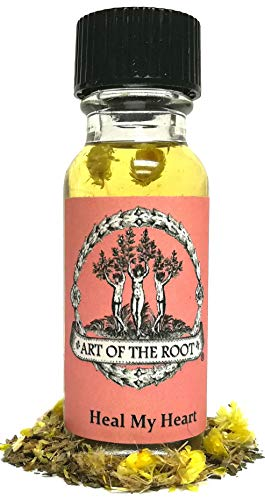 Heal My Heart Oil 1/2 oz for Heartache, Loss, Grief, Sadness and Letting Go Hoodoo Voodoo Wiccan Pagan Santeria