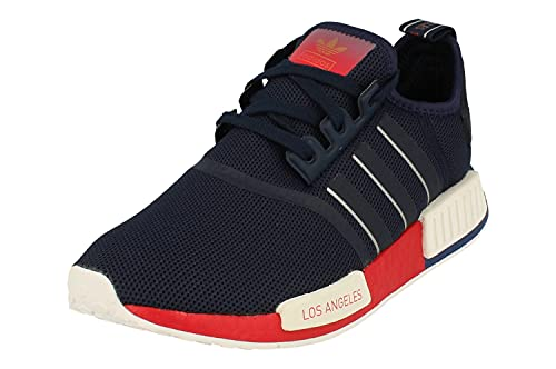 Adidas Originals NMD_R1 Hombre Running Trainers Sneakers (UK 8 US 8.5 EU 42, Blue White Red FY1162)