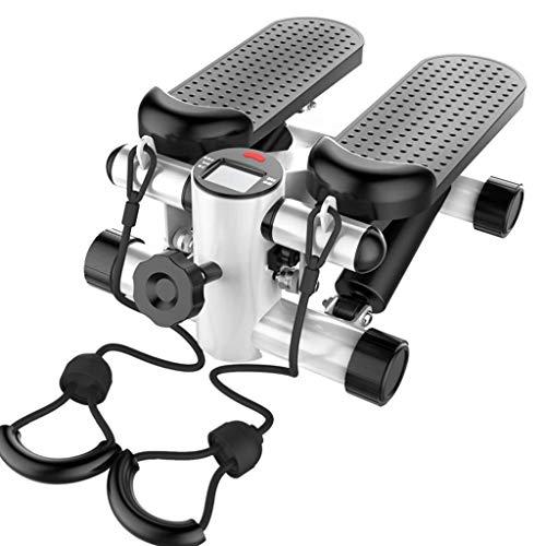 AJH Mini Escalera Ajustable, Equipo de Ejercicio con acción de torsión, máquina hidráulica de pie, Pantalla de conteo LED, operación de bajo Ruido
