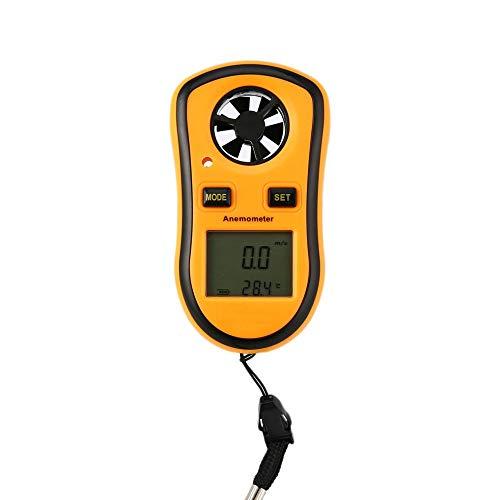 Anemómetro digital Medidor de escala de velocidad de flujo de aire de viento YXY-Tech portátil de mano Termómetro de medidor