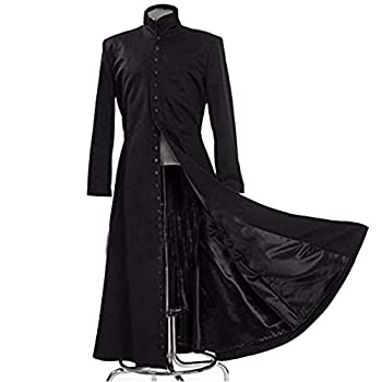 2019 Matrix Black Cosplay Costume Neo Trench Only Coat Womens Mens Girls Boys Unisex Cos Clothing