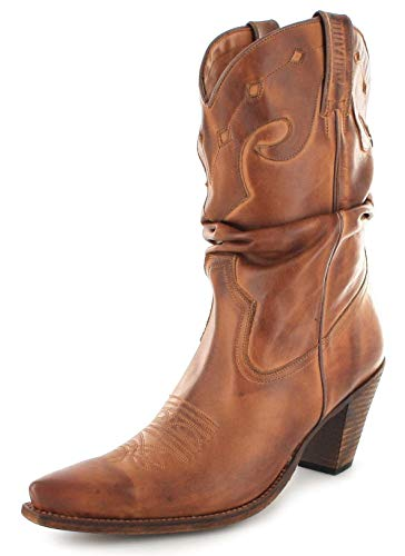 Mayura Boots Damern Westernstiefel 1952 Lederstiefel Braun, Groesse:39