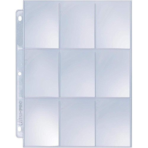 Ultra Pro 9-Pocket Silver Series Page Protector for Standard Size Cards (50ct)