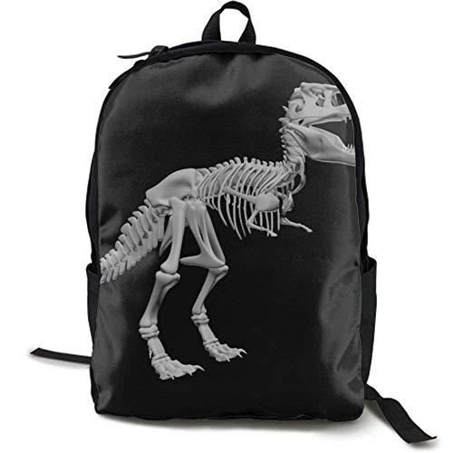 XCNGG Zaino per stampa full frame per adulti Zaino casual Zaino per scuola NiYoung Travel Backpack Laptop Backpack Large Diaper Bag - Dinosaur Skeleton Backpack School Backpack for Women & Men