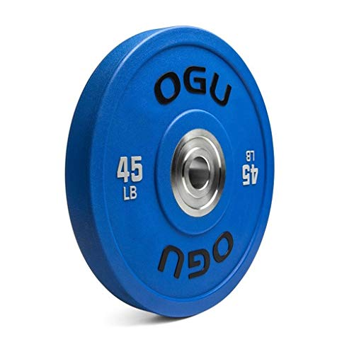 Jiande Barbell 2-Inch Olympic Grip Plate Single Olympic Grip Plate Weight Set PU Full Rubber Color Barbell 10lb, 25lb, 35lb, 45lb, 55lb (Size : 10lb)