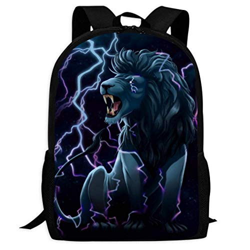 Zaino per laptop AOOEDM Lightning Lion Student Zaino portatile da viaggio per il tempo libero di grande capacità Zaino multifunzionale per uomo e donna