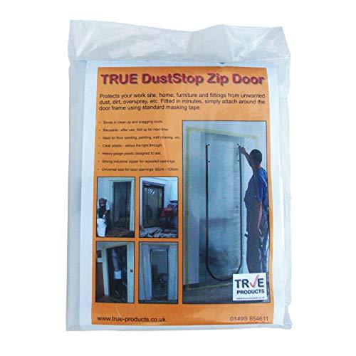 True Products Kit de porte anti-poussière avec fermeture Éclair
