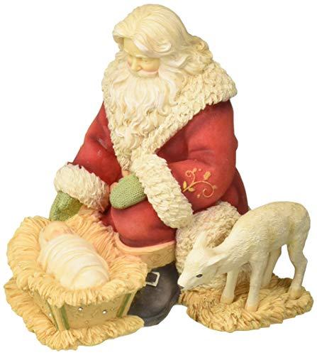 Enesco Heart of Christmas' Silent Night, Holy Night Santa Figurine, 6.26', Multicolor