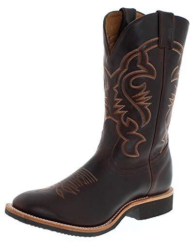 Boulet Herren Cowboy Stiefel 2164 E Brown Westernreitstiefel Lederstiefel Braun 44 EU