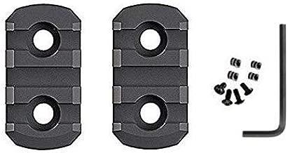 HooGou 2 Pcs 3 Slots Picatinny Weaver Rail Section Aluminum for M-LOK/MLOK Handguards Compatible Systems Mount (2 Pack)