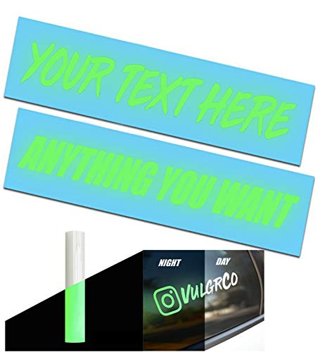 VulgrCo Glow in Dark Design Your Own Custom Vinyl Decal Sticker...