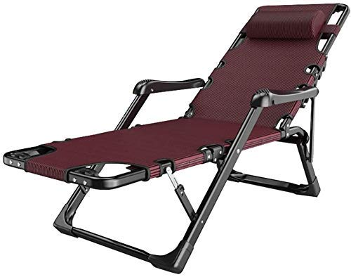 WDHWD - Sillón reclinable reclinable para exteriores, reclinable y plegable para exteriores, tumbona de playa, sillón reclinable extra grande, sillas largas de interior