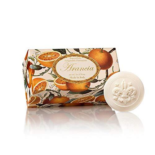 Fiorentino - Arancia - Jabón Naranja, redondo, 6 pastillas de 50 g,...