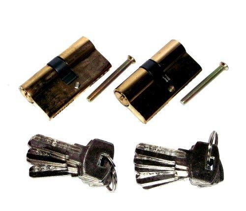 Pack of 2Security Locking Cylinder Door Lock Set 70mm + 10Keys Keyed Alike
