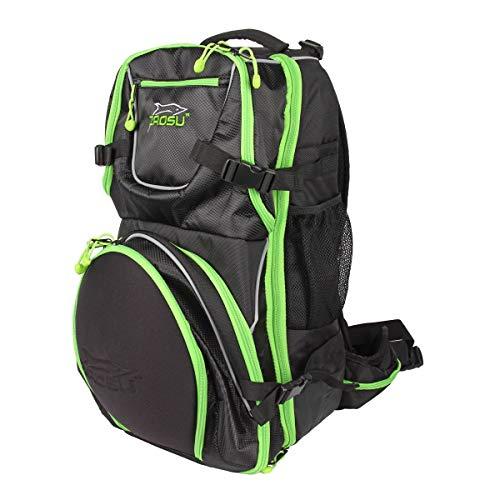 ZAOSU Herren und Damen Transition Bag Elite | Großer Triathlon Rucksack mit Helmfach und Nassfach für Training und Wettkampf