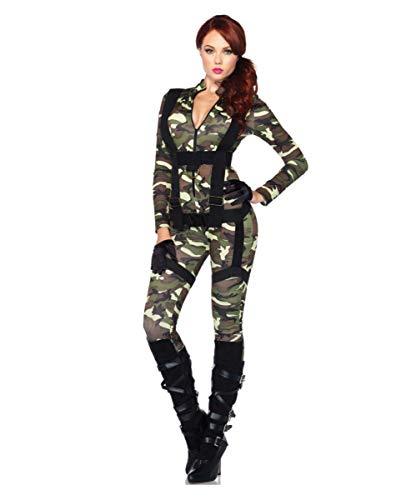 Horror-Shop Sexy Camouflage US Army Fallschirmjägerin Kostüm für Damen L