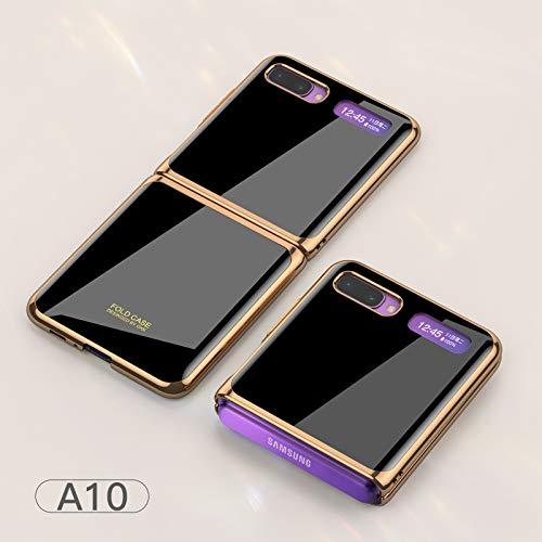 DishyKooker Flip Cellphone Shell Foldable Electroplated Painted Folding Phone Case For Sam-sung Gal-axy Z A10 Necessary Items