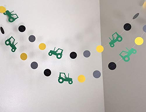 Tractor 10ft Party Paper Garland, Birthday Party Decor, Wedding Shower Decor, Nursery Décor