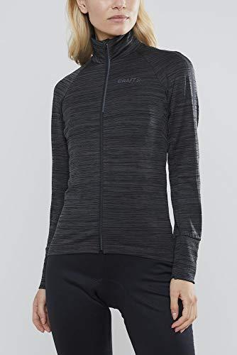 Craft Damen Langarmshirt IDEAL Thermal Jersey, Black Melange, XS, 1907821-998000-3