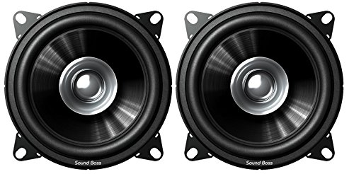 "SoundBoss 4"" Dual Performance Auditor 200W MAX B1015 Coaxial Car Speaker"