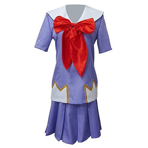 Xiao Wu Mirai Nikki Yuno Gasai Junior High School Uniform Anime Cosplay Costume (Female XL) Purple