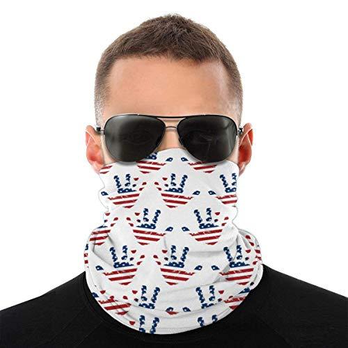 XCNGG Lenguaje de señas Americano Bandana Unisex Moda Variedad Pañuelo para la Cabeza Pañuelo para la Cabeza para Deportes al Aire Libre