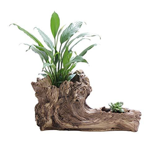 MINGMIN-DZ Dauerhaft Simulation Baum Wurzel Sukkulente Topfgarten Pflanzkübel im Freien Botanische Blumentopf