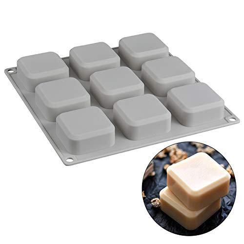 Keepbest 9 Grid DIY siliconen zeep mal handgemaakte zeep maken vierkante vormen gereedschap