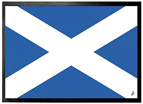1art1 Flaggen Der Welt - Schottland Fußmatte Innenbereich & Außenbereich | Design Türmatte 70 x 50 cm