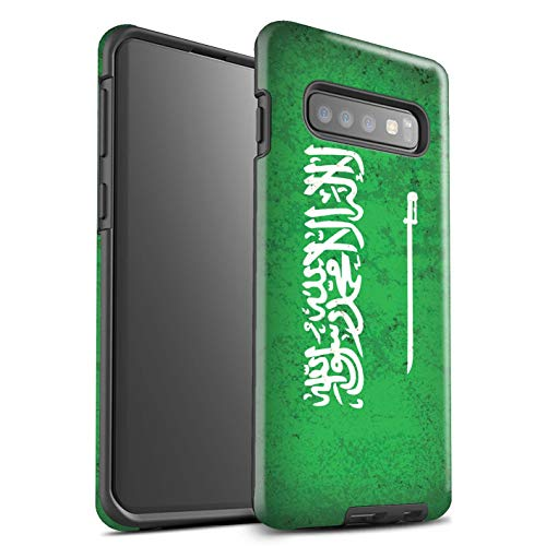 Stuff4® glanzende harde schokbestendige hoes/case voor Samsung Galaxy S10 / Saudi Arabië/Arabisch patroon/Azië vlag collectie